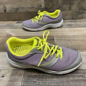 Vionic Women's Gray/Green Walking Shoes 7.5 Wide
